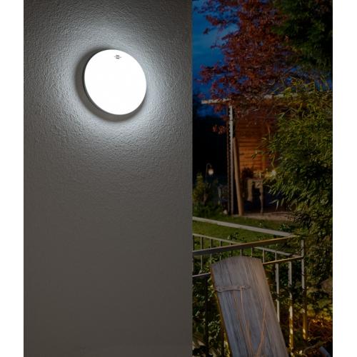 Lampe LED ovale OL 1600 P avec détecteur de mouvements infrarouge 1600lm, blanc, IP54