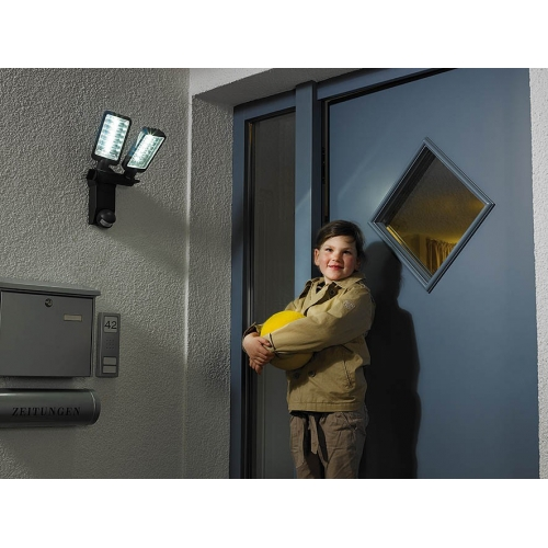 Projecteur LED Duo Premium City SV5405 PIR IP44