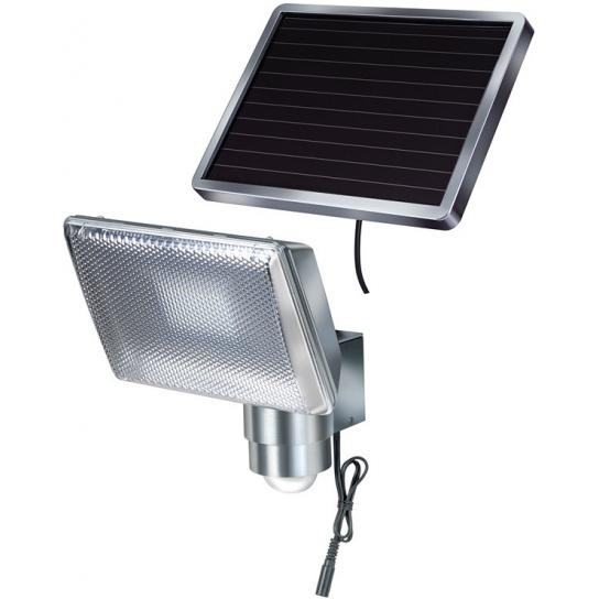Lampe LED Solaire SOL 80 ALU IP44 avec détecteur de mouvements infrarouge 8xLED 0,5W