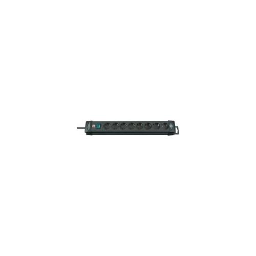 Premium-Line 8 prises noir 3 m H05VV-F 3G1,5