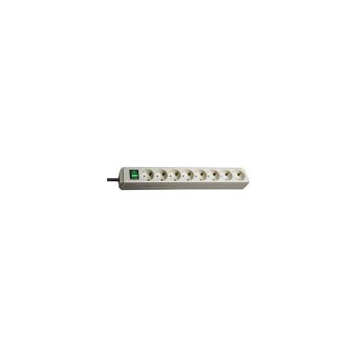Eco-Line avec interrupteur 8 prises gris clair 3 m H05VV-F 3G1,5