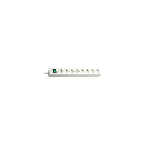 Eco-Line avec interrupteur 8 prises  blanc 3m H05VV-F 3G1,5