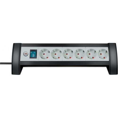 Prolongateur multiprise Premium-Office-Line 6 prises noir/gris clair 3m H05VV-F 3G1,5