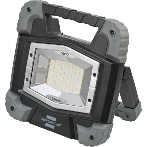 Projecteur LED TORAN portable, rechargeable, connecté en Bluetooth®, 3800 lumen (IP55,40W, autonomie 30h, fonction Powerbank)